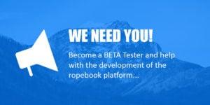ropebook beta testers